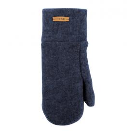 Mittens, wool fleece, blue