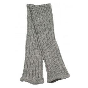 Leg warmers, wool, grey