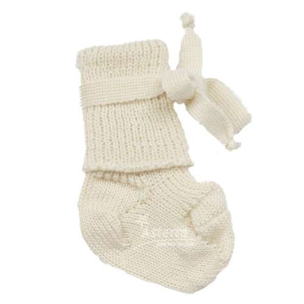 New born socks, wool, natural