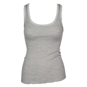 Undervest, wool/silk, grey (XS-L)