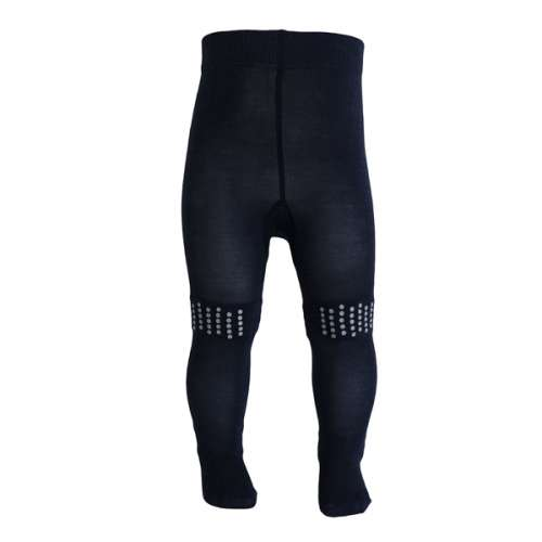 Tights for crawling, wool, navy (70-90)