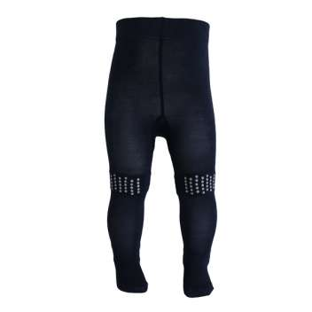 Tights for crawling, wool, navy (80)