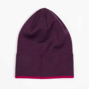 Beanie, wool, wine red (53-55 cm)