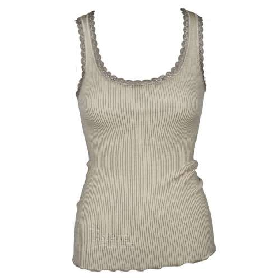 Undervest, wool/silk, mossgrey (XS-L)