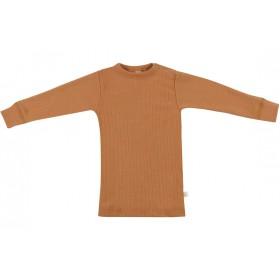 Shirt lange mouw, wol, karamel (74-86)