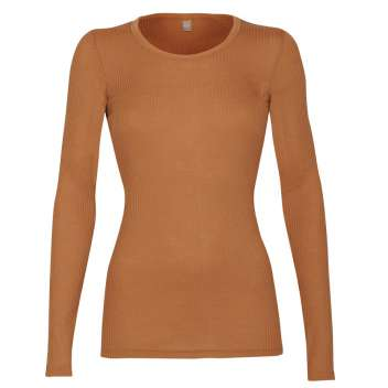 Shirt long sleeved, wool, caramel (36-46)