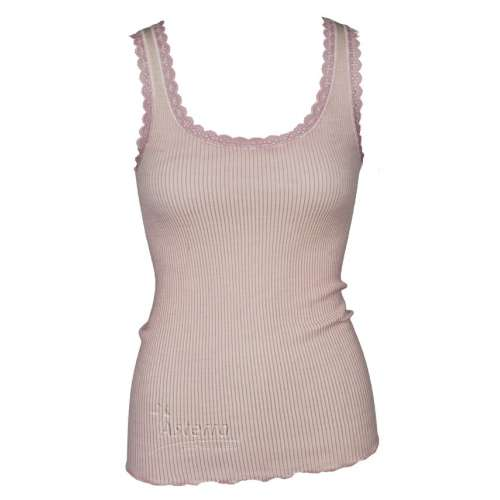 Undervest, wool/silk, coral pink (XS-L)
