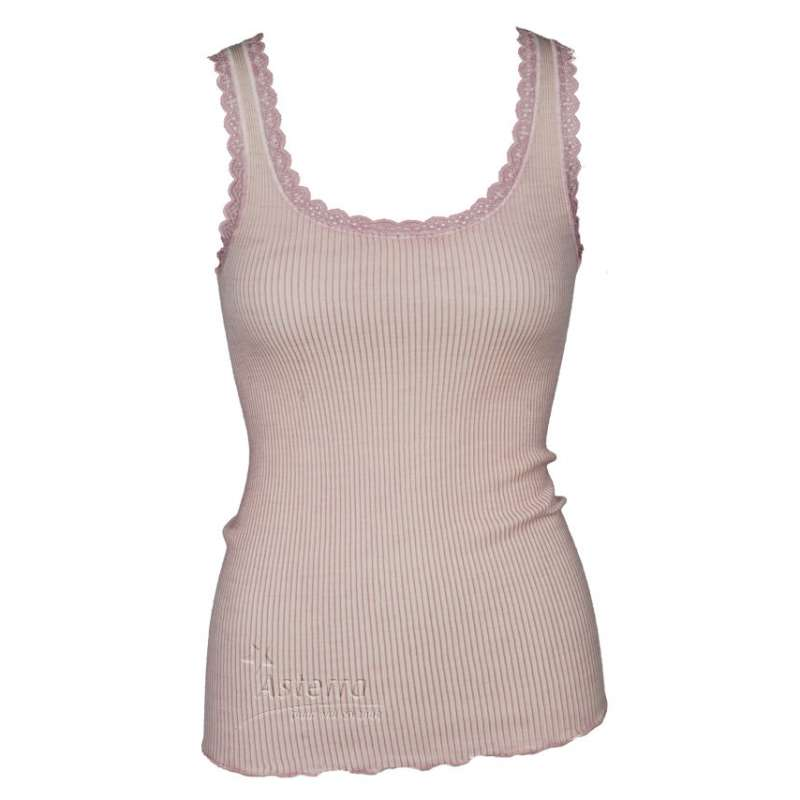 Undervest, wool/silk, coral pink (XS-M)