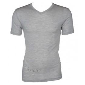 Shirt short sleeved, wool/silk, grey (S-XXL)