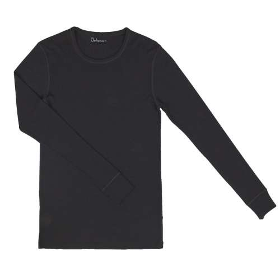 Shirt lange mouw, merinowol, zwart (XS-XXL)