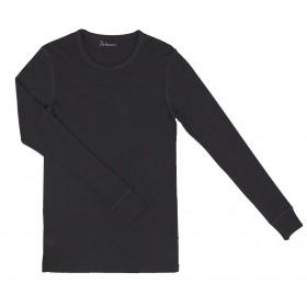 Shirt long sleeved, wool, black (XS-XXL)