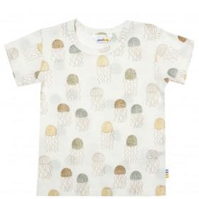 Shirt korte mouw, wol/zijde, zomer (90-130)