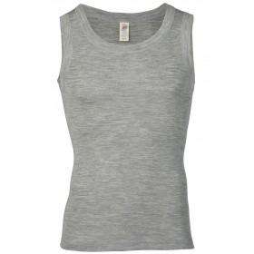 Hemd, merinowol/zijde, grijs (44-56)