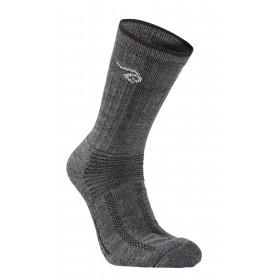 Trekking socks, wool 60%, grey (35-46)
