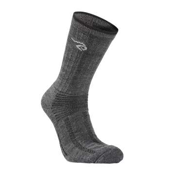 Trekking socks, wool 60%, grey (35-46)