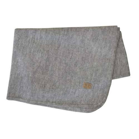 Blanket, boiled wool, grey marl