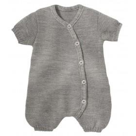 Summer play suit, wool, pebble grey (50-68)