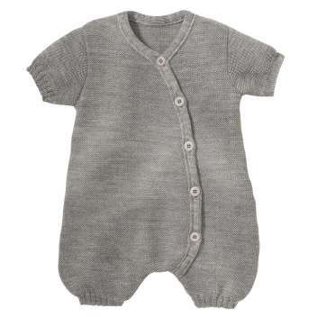 Summer play suit, wool, pebble grey (50-68)