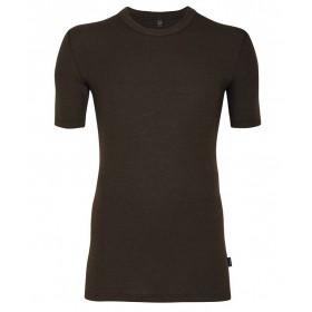 Shirt short sleeved, wool, chocolate (4-8)