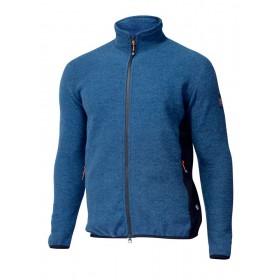 Sports cardigan, wool, blue sapphire (S-XL)