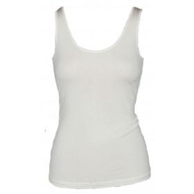 Undervest, organic silk, white (S-XL)