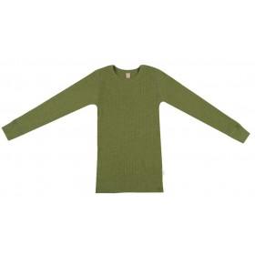 Shirt lange mouw, wol, avocado (98-152)