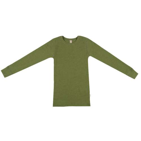 Shirt long sleeved, wool, avocado (98-152)