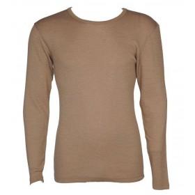 Shirt lange mouw, wol/zijde, candied ginger (S-XL)