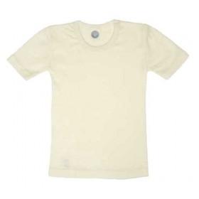 Vest short sleeved, wool/silk, natural (92-164)