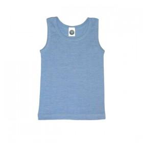 Undershirt, wool/cotton/silk, blue (92-152)