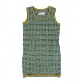 Tuniek, wol, varen/turquoise