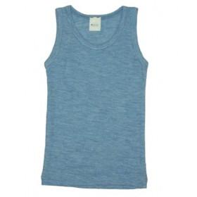 Hemd, wol/zijde, jeansblauw (92-164)