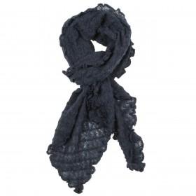 Shawl, wool, night blue