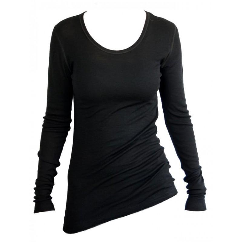 populair kopen informatie vrijgeven op beste plaats Shirt lange mouw, wol, zwart (36-44) - Asterra