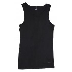 Hemd, merinowol, zwart (5-8)