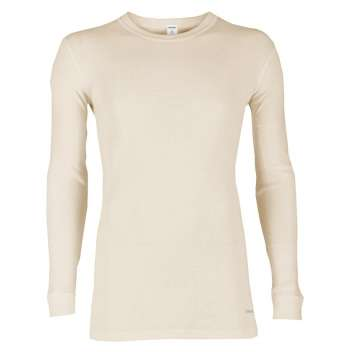 Shirt long sleeved, wool, natural (5-8)