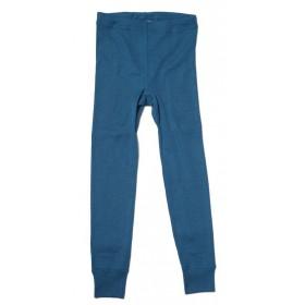 Legging, wol/zijde, petrol (92-164)
