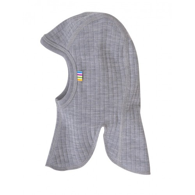 Balaclava, wool, grey (52-54 cm)