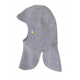 Bivakmuts, wol, grijs (52-54 cm)