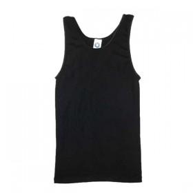 Hemd, wol/zijde, zwart (36-50)