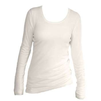 Shirt lange mouw, wol, naturel (36-44)