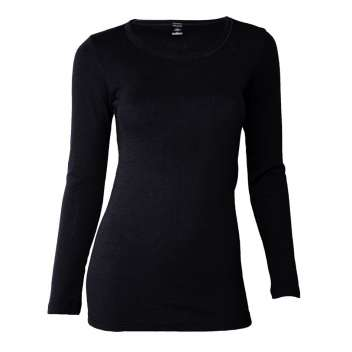 Shirt long sleeved, wool, black (36-46)