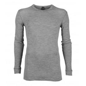 Shirt lange mouw, merinowol, grijs (4-8)