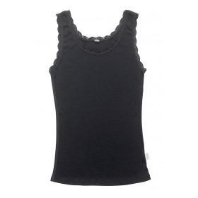 Hemd, wol, zwart (XS-2XL)