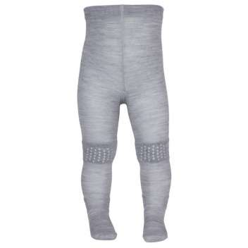 tights for crawling, wool, grey (70-90)