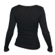 Shirt long sleeved, wool/silk, black (XS-XL)